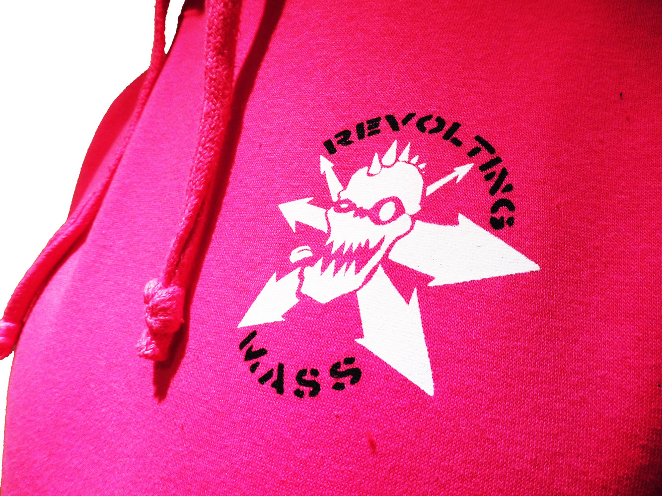 Pink Revolting Mass Hoodie Detail