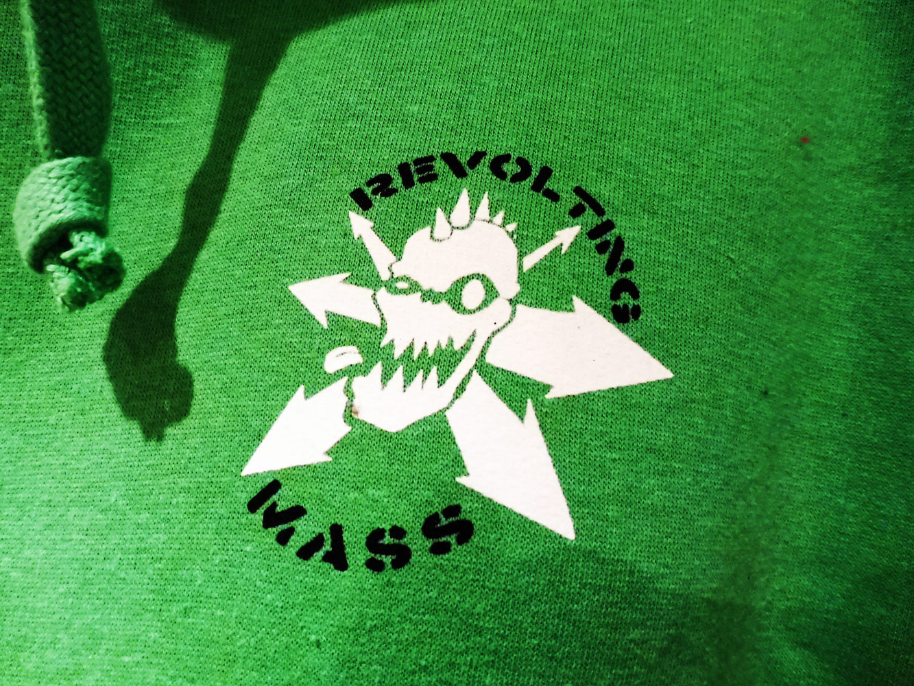 Green Revolting Mass Logo