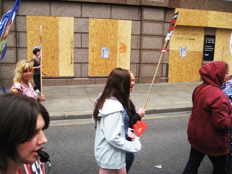 Anti Austerity Demonstration Graffiti