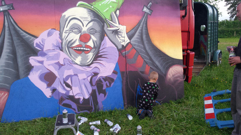 The Big Malarkey - Circus Style Graffiti