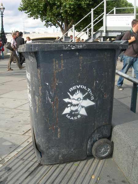 Anti Fascist Wheelie Bin