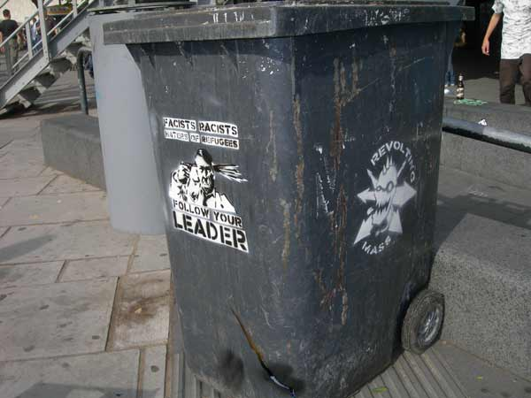 Revolting Mass / MAS - Anti Fascist Wheelie Bin