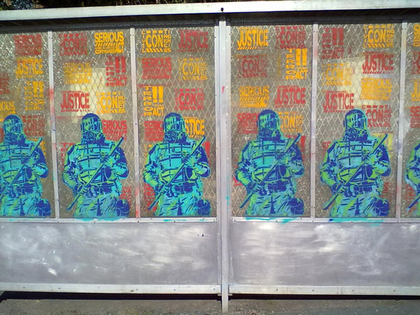 Bus Shelters Against the Police State