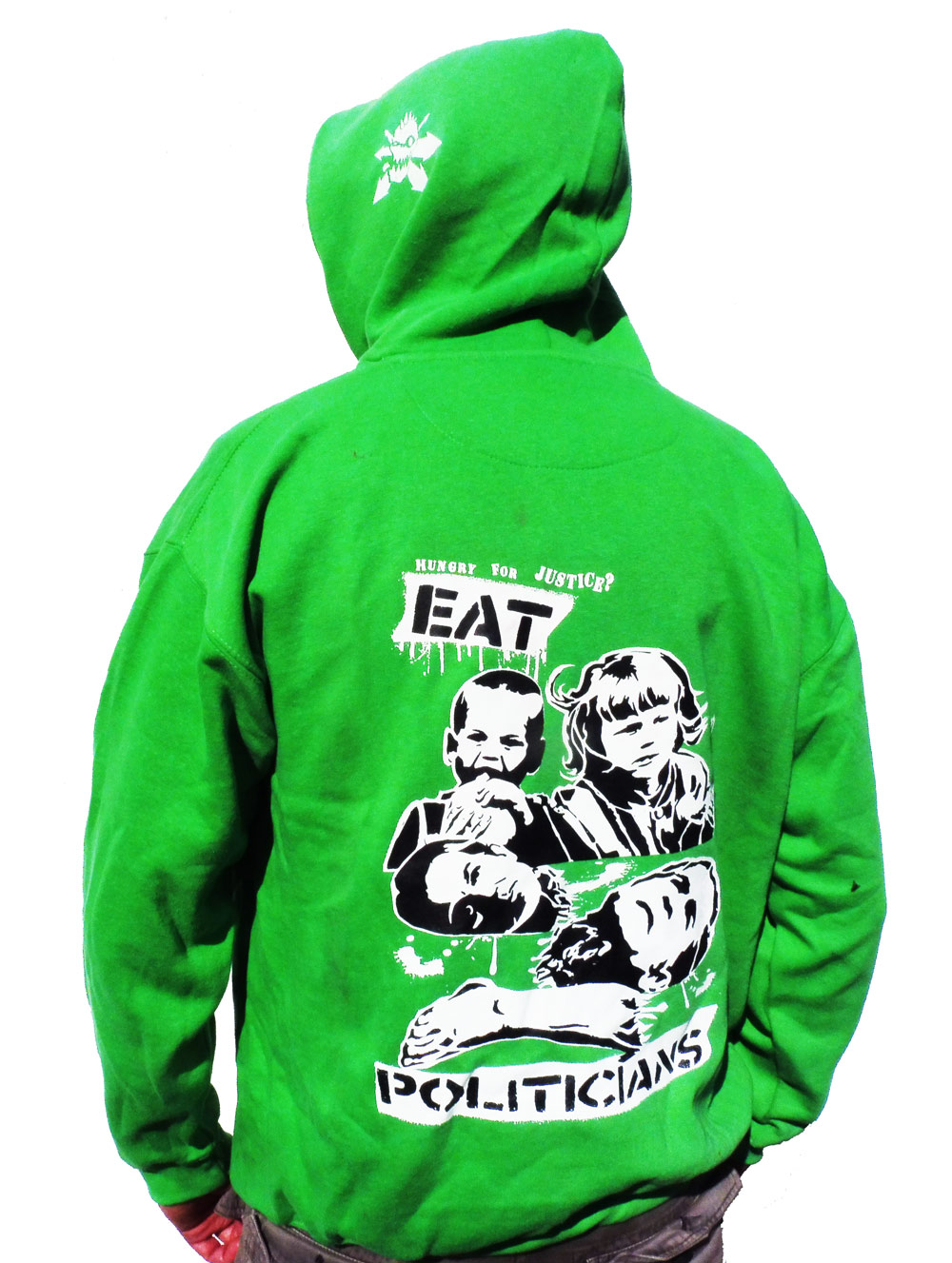 Eat Politicians Colour Hoodie